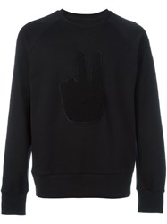 Rag And Bone Textured Peace Sign Sweatshirt Black
