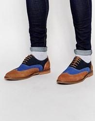 Peter Werth Suede Oxford Shoes Tan