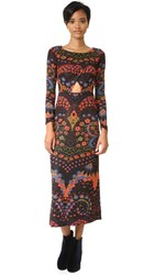 Free People Far Out Knit Dress Black Combo