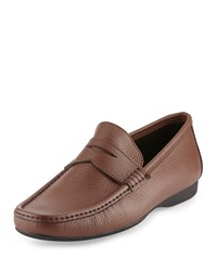 Bruno Magli Partie Leather Penny Loafer Brown