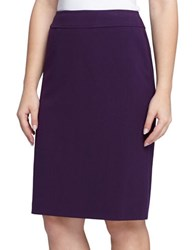 Tahari By Arthur S. Levine Ponte Knit Pencil Skirt Purple
