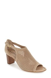 Women's Anyi Lu 'Zoe' Perforated Sandal Sand Suede