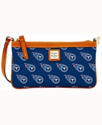 Dooney And Bourke Tennessee Titans Large Wristlet Navy