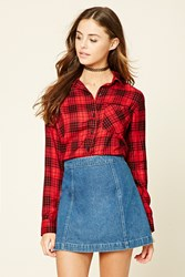 Forever 21 Button Front Plaid Shirt