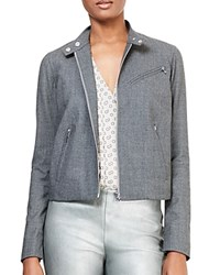 Ralph Lauren Stretch Wool Moto Jacket Foster Grey Heather