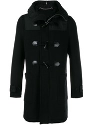 Givenchy Hooded Duffle Coat Black