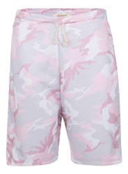 Topman Granted Pink And Grey Camo Shorts