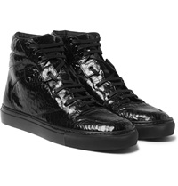 Balenciaga Patent Leather High Top Sneakers