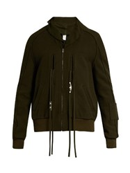 Damir Doma Johnson Felted Wool Blend Field Jacket Dark Green