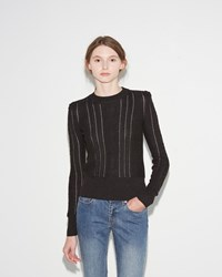 Etoile Isabel Marant Kalyn Cable Sweater Black