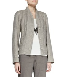 Eileen Fisher Organic Basketweave 3 Button Jacket Women's