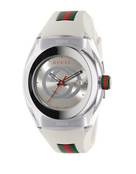 Gucci Unisex White Sync Stainless Steel And Rubber Watch 36Mm