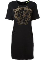 Versace Jeans Studded Embellished T Shirt Dress Black