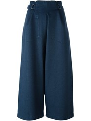Issey Miyake Cauliflower High Rise Loose Fit Trousers Blue