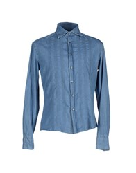Michael Bastian Denim Denim Shirts Men Blue