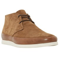Bertie Curtis Contrast Rand Lace Up Chukka Boots Tan