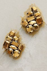 Anthropologie Alice Army Cluster Earrings Green