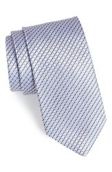 Men's John W. Nordstrom 'Raine Mini' Geo Print Silk Tie Light Blue