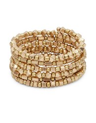 Design Lab Lord And Taylor Beaded Coil Bracelet Gold