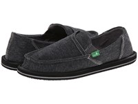 Sanuk Pick Pocket Fleece Charcoal Women's Slip On Shoes Gray