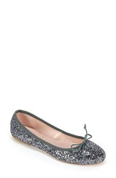 Women's Summit 'Kendall' Ballet Flat Anthracite Glitter Fabric