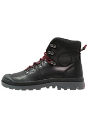 Palladium Pallabrousse Laceup Boots Black Red Castlerock