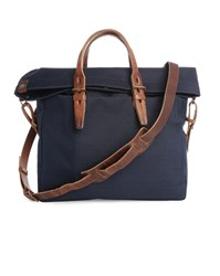 Bleu De Chauffe Navy Cordura Remix Canvas Satchel Blue