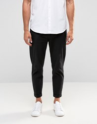 Selected Homme Cropped Chinos With Stretch Black