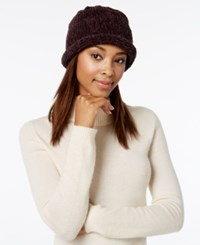 August Hats Crochet Classic Chenille Roll Up Hat Chocolate
