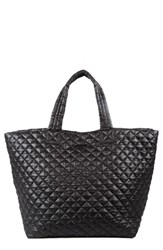 M Z Wallace Mz Wallace 'Large Metro' Quilted Oxford Nylon Tote Black Black Oxford