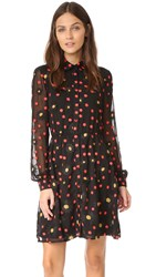 Alice Olivia Enid Button Down Shirtdress Black Multi
