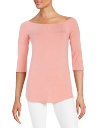 Highline Collective Knit Peasant Neck Top Pink