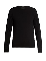 Valentino Crew Neck Cashmere Sweater Navy