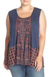 Plus Size Women's Lucky Brand Mixed Print Tank