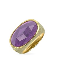 Torrini Dany Amethyst Gemstone 18K Yellow Gold Ring