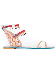 Sophia Webster Beaded Flat Sandals Multicolour