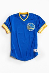 Mitchell And Ness Nba Golden State Warriors Mesh V Neck Top