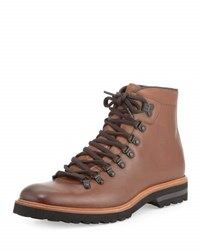 Kenneth Cole Click Ery Leather Lace Up Boot Brown