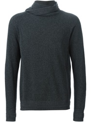 Paolo Pecora Cowl Neck Sweater Grey