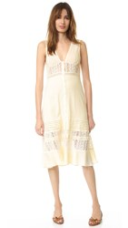 Somedays Lovin Fortune Peasant Midi Dress Cream