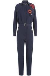 Maison Martin Margiela Jumpsuit With Patchwork Applique Blue