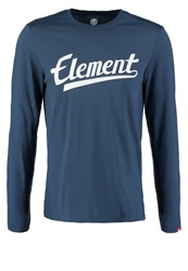 Element Signature Long Sleeved Top Dark Denim Dark Blue