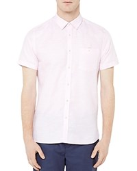 Ted Baker Mysong Striped Regular Fit Button Down Shirt Pink