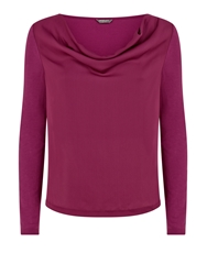 Minuet Petite Woven Front Top Pink