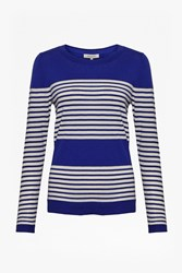 Great Plains Betty Stripe Scoop Neck Top Blue