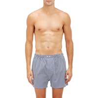 Barneys New York Micro Checked Boxers White