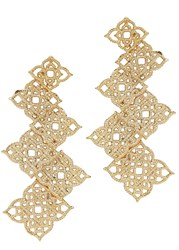 Isharya Temple Muse Filigree Gold Plated Earrings