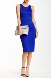 Blvd Sleeveless Crepe Sheath Dress Blue