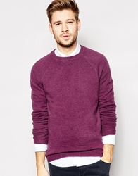 Jack Wills Seaford Jumper With Brushed Wool Blackcurrant