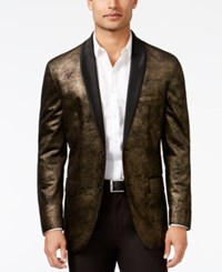 Inc International Concepts Men's Classic Fit Distressed Foil Blazer Only At Macy's Gold